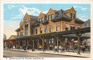 D64/ Hazleton Pennsylvania Pa Postcard Railroad Depot c1910 Lehigh Valley
