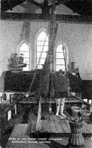 Hastings Stern of The Fishing Lugger Enterprise Fishermen's Museum Postcard