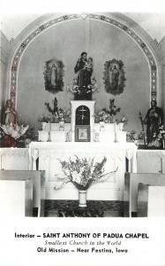 Festiva IA~RPPC~Vase de Fleurs @ World's Smallest Church Seats Only 8~Padua 1950