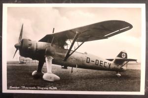 Mint WW 2 Germany RPPC Real Picture Postcard Flugzeug Henschel Hs 126