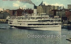 Steamer Greyhound, Leaving Toldeo,Ohio, OH USA Steam Ship 1911 light wear clo...