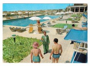 Nefta Tunisia Sahara Palace Hotel Swimming Pool 4X6 Postcard