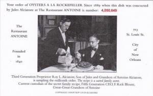 Restaurant Antoine Oysters A La Rockefeller #4,050,649 New Orleans Louisiana