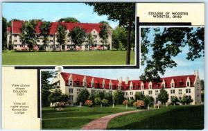 WOOSTER, Ohio  OH    COLLEGE OF WOOSTER Kenarden Lodge, Douglass Hall  Postcard
