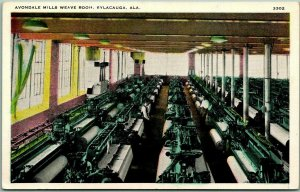 Sylacauga, Alabama Postcard AVONDALE MILLS WEAVE ROOM Textile Mill Factory