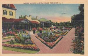 Flower Gardens at Eastman House - Rochester, New York - pm 1951 - Linen