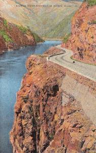 ID, Idaho    SALMON RIVER HIGHWAY~Scenic Roadway   c1940's Linen Postcard