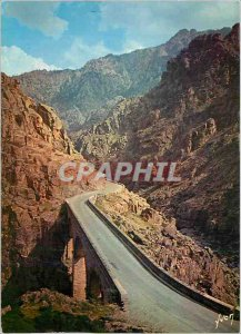 Modern Postcard Corsica Oasis Beauty The magnificent parade of the Scala di S...