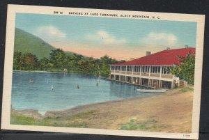 North Carolina colour Bathing at Lake Tomahawk, Black Mountain, N.C unused