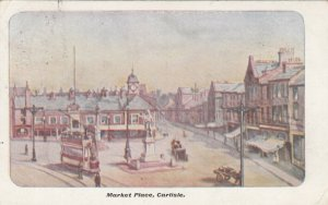 CARLISLE, Cumbria, England, United Kingdom; Market Place, 1904