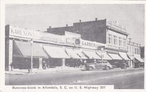 ALLENDALE , South Carolina, 1930s; Business Block, on U.S. Hwy. 301