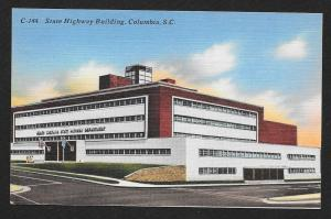 State Highway Building Columbia South Carolina Unused c1930s