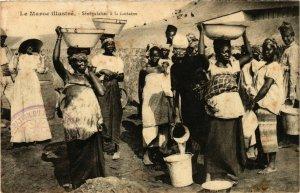 CPA AK Senegalaises a la Fontaine - Types - Folklore MAROC (964320)