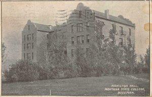 Hamilton Hall MONTANA STATE COLLEGE Bozeman, MT 1911 Vintage Postcard