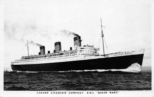 Queen Mary Cunard Line Ship 1952