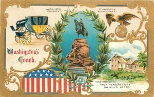 1911 Patriotic Washington 1st Headquarters Will's  Creek Postcard 1941