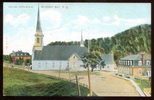 dc1236 - MURRAY BAY Quebec Postcard 1910s Church