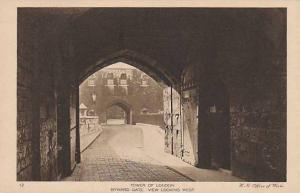 View looking west, Byward Gate, Tower of London, England, United Kingdom, 00-10s