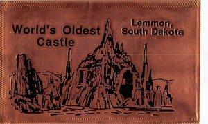 World's Oldest Castle, Lemmon, SD Engraved Copper Unused