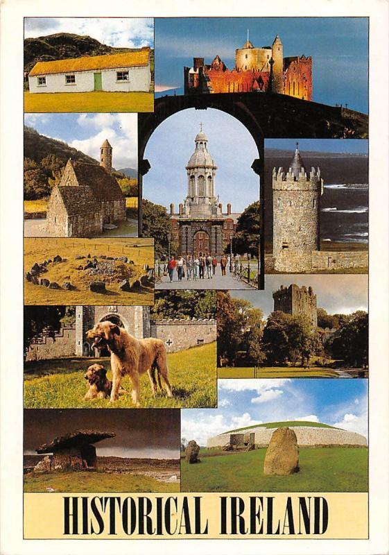 Historical Ireland multiviews Church Eglise Tower Castle Dogs Chien