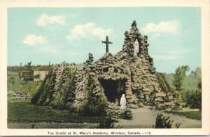 Windsor Ontario ON The Grotto at St. Mary's Academy Unused Postcard E33