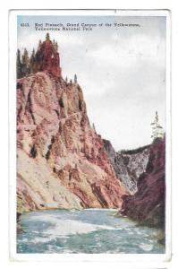 WY Yellowstone Park Red Pinnacle Grand Canyon 1932 Postcard