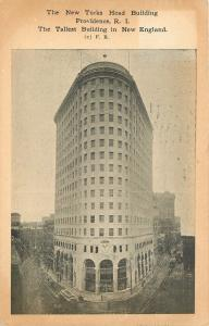 Providence Rhode Island~Turks Head Building~Trolleys~Funny Face~1913 Postcard