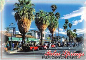 USA Palm Springs Palm Canyon Drive Vintage cars Street