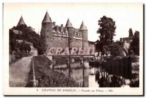 Postcard Old Chateau De Josselin Facade on I Oust