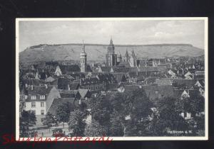 HEILBRONN A.N. GERMANY BIRDSEYE VIEW OLD VINTAGE POSTCARD