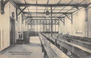Bruges Belgium interior Institut St Francois-Xavier antique pc Z19610