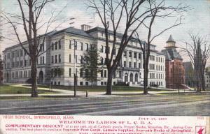 High School (Exterior), SPRINGFIELD, Massachusetts, PU-1907