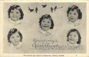Dionne Quintuplets Postcard Postcards Unused