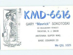 Pre-1980 RADIO CARD - CB HAM OR QSL Trenton New Jersey NJ AH0853