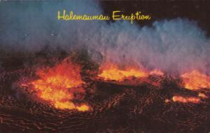 Halemaumau Eruption On Nov. 5, 1967, Hawaii, PU-1968 Volcano