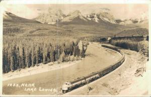 Canada Lake Louise Vancouver Train Railway RPPC 01.65