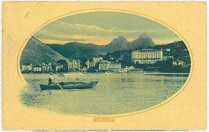Ansichtskarten Schweiz VINTAGE POSTCARD: SWITZERLAND - GRUSS AUS: BRUNNEN 1919