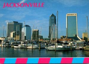Florida Jacksonville Downtown Skyline On St John's River