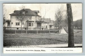 Benson MN-Minnesota, Street Scene & Residence Section, Vintage Postcard