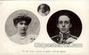 King and Queen of Spain Royalty Postcard Postcards  King & Queen of Spain