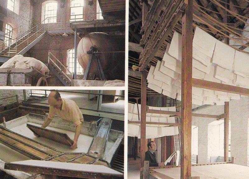 Wookey Hole Paper Making By Hand Craft Somerset Postcard