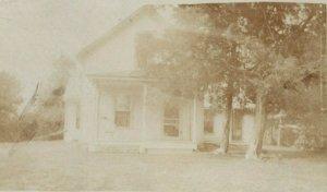 1910 Victorian House Morning Sun Iowa IA RPPC Photo Antique Postcard