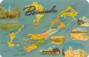 Bermuda Map Bermuda Unused