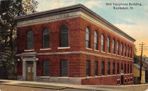 Kankakee Illinois~Bell TelephoneBuilding~Cornices~Stone Jambs 1913
