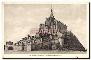 Old Postcard Mont St Michel Cote Nord Est