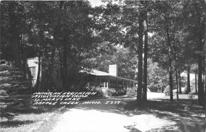 Battle Creek Michigan Education Association Camp @ St Mary's Lake~1940s RPPC