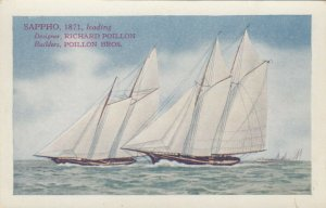 America's Cup Racing Boat SAPPHO, 1871 , 00-10s ; Varnish Co Ad