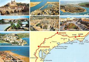 Beziers Narbonne-Plage Cote Languedocienne Circuit Touristique Multiviews Map