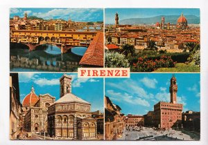 FIRENZE, Florence, multi view, 1982 used Postcard