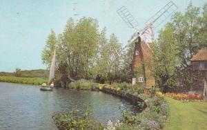 Norfolk Broads Hunsett Hill River Ant  Windmill Postcard